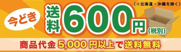 送料600円(税別) 商品代金5,000円以上で送料無料(※北海道・沖縄を除く)